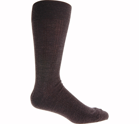 Men's Johnston & Murphy Wool Ribbed Slack Length, Charcoal, large, image 1
