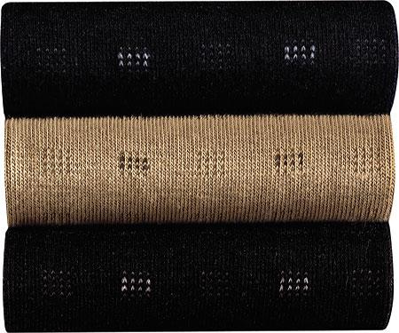 Men's Johnston & Murphy Coolmax Square Stripe, Black, large, image 1