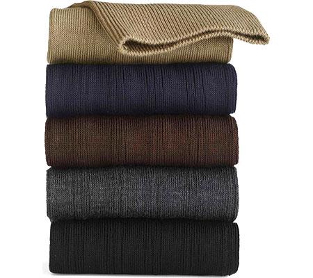 Men's Johnston & Murphy Cotton Ribbed OTC, Charcoal, large, image 1