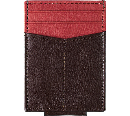 Men's Johnston & Murphy Front Pocket Wallet, Brown/Burgundy Full Grain Nappa, large, image 1