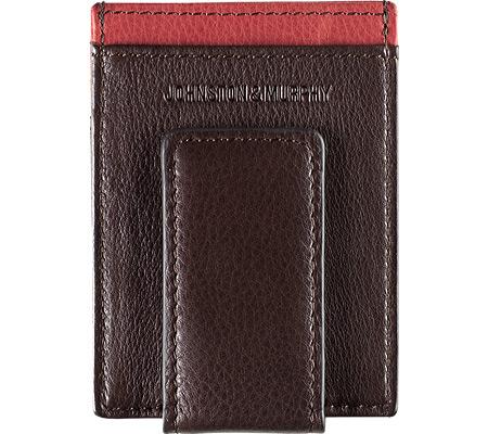 Men's Johnston & Murphy Front Pocket Wallet, Brown/Burgundy Full Grain Nappa, large, image 2