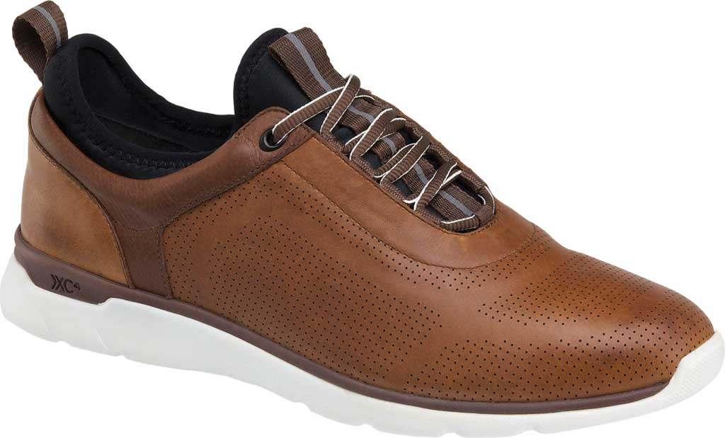Men's Johnston & Murphy Prentiss U-Throat Sneaker, Mahogany Waterproof Leather, large, image 1