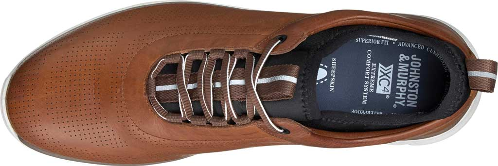Men's Johnston & Murphy Prentiss U-Throat Sneaker, Mahogany Waterproof Leather, large, image 2