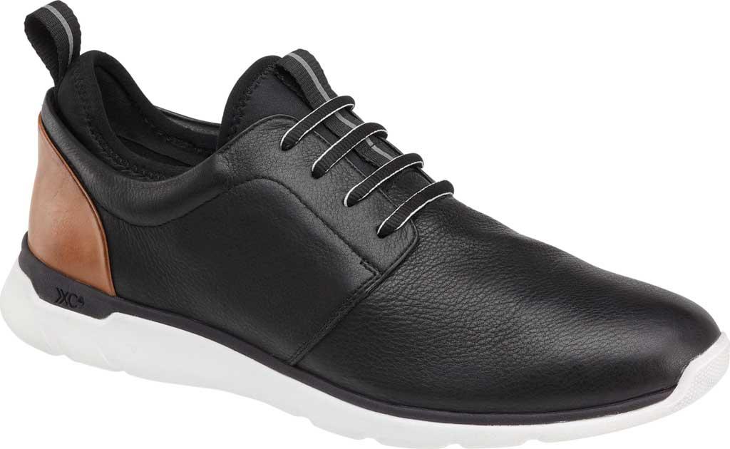Men's Johnston & Murphy Prentiss Plain Toe Sneaker, Black Waterproof Leather, large, image 1