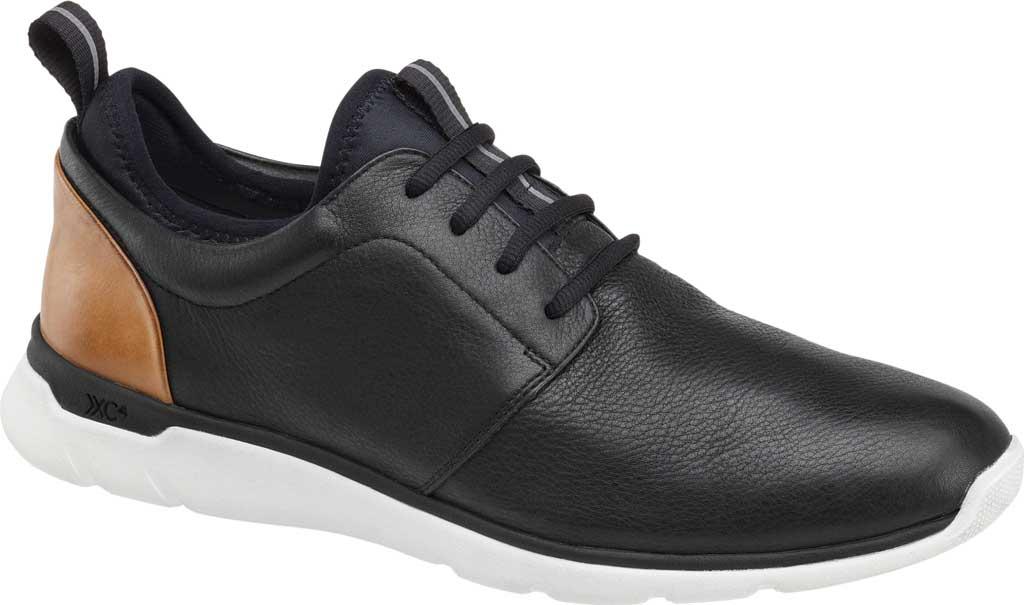 Men's Johnston & Murphy Prentiss Plain Toe Sneaker, Black Waterproof Leather, large, image 2