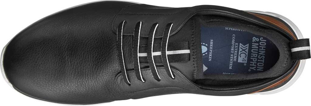 Men's Johnston & Murphy Prentiss Plain Toe Sneaker, Black Waterproof Leather, large, image 3