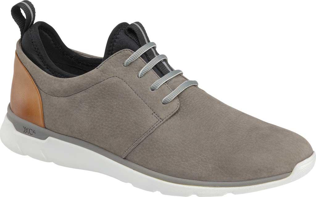 Men's Johnston & Murphy Prentiss Plain Toe Sneaker, Gray Waterproof Nubuck, large, image 1