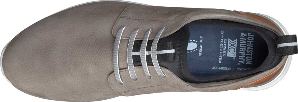 Men's Johnston & Murphy Prentiss Plain Toe Sneaker, Gray Waterproof Nubuck, large, image 2