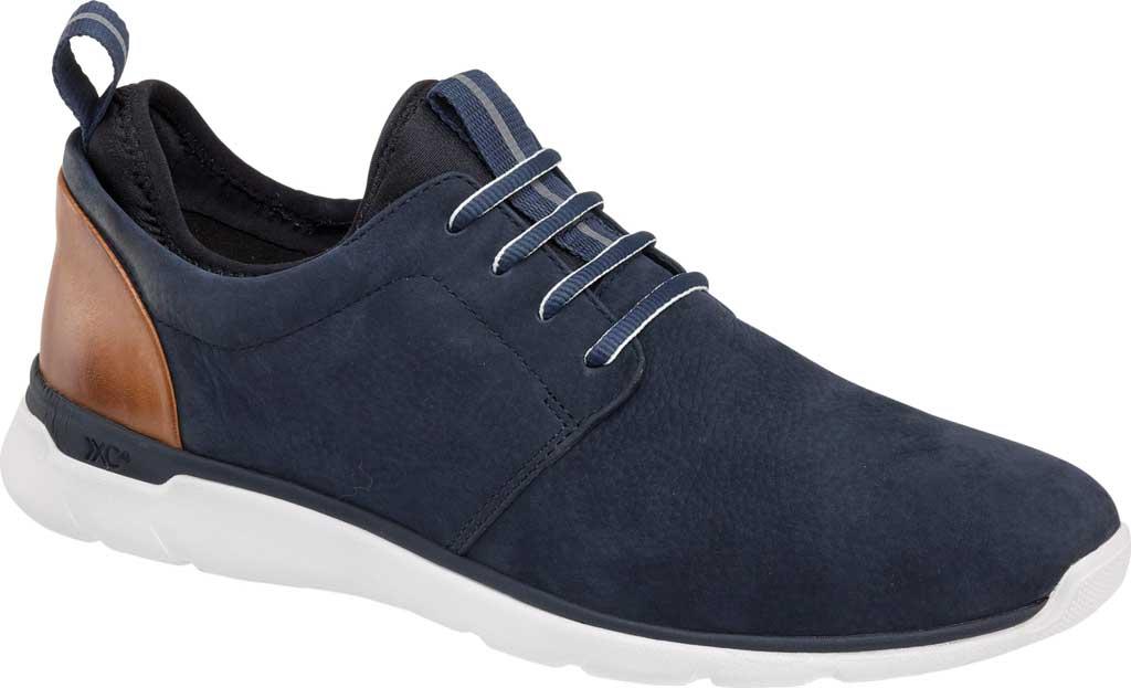 Men's Johnston & Murphy Prentiss Plain Toe Sneaker, Navy Waterproof Nubuck, large, image 1