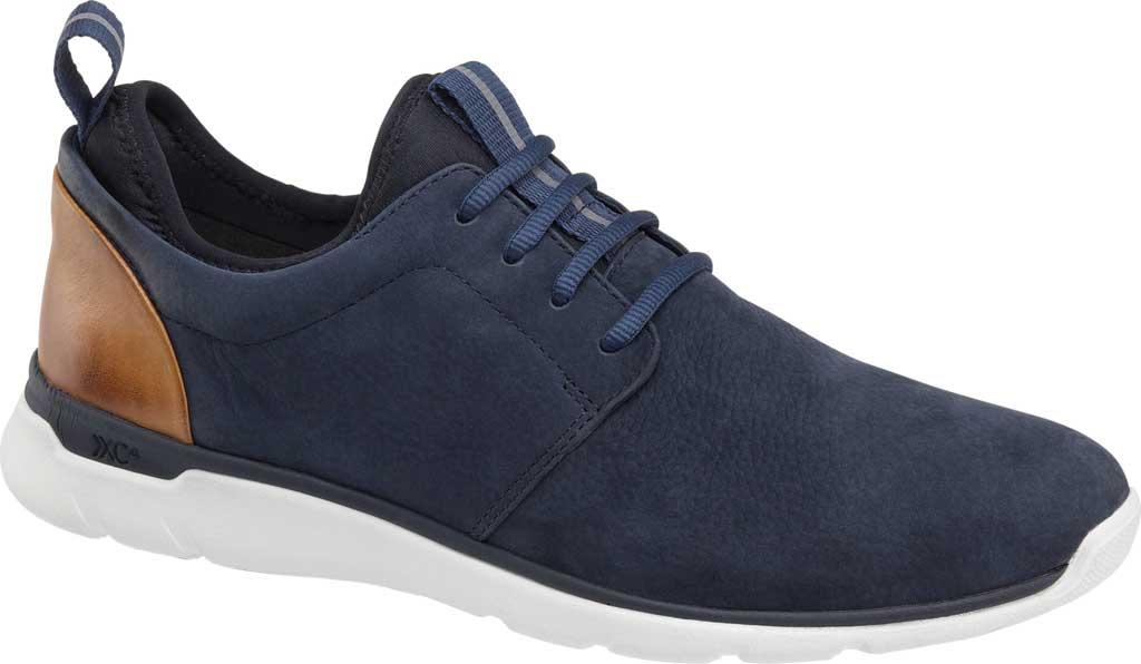 Men's Johnston & Murphy Prentiss Plain Toe Sneaker, Navy Waterproof Nubuck, large, image 2