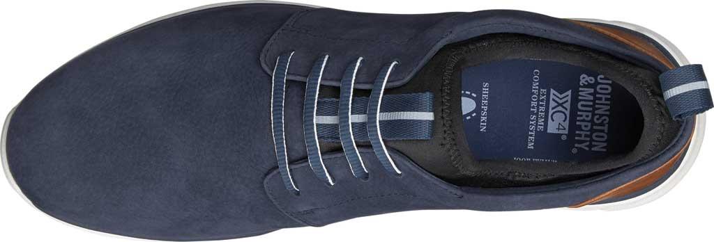 Men's Johnston & Murphy Prentiss Plain Toe Sneaker, Navy Waterproof Nubuck, large, image 3