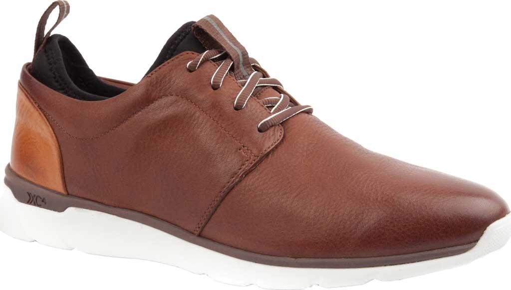 Men's Johnston & Murphy Prentiss Plain Toe Sneaker, Mahogany Waterproof Leather, large, image 1