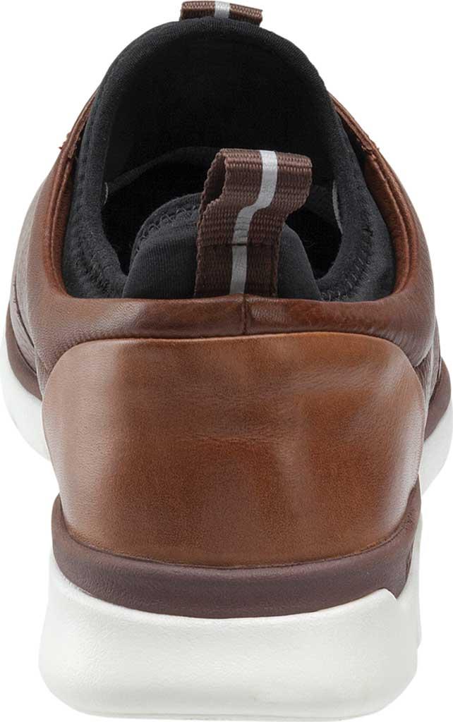 Men's Johnston & Murphy Prentiss Plain Toe Sneaker, Mahogany Waterproof Leather, large, image 2