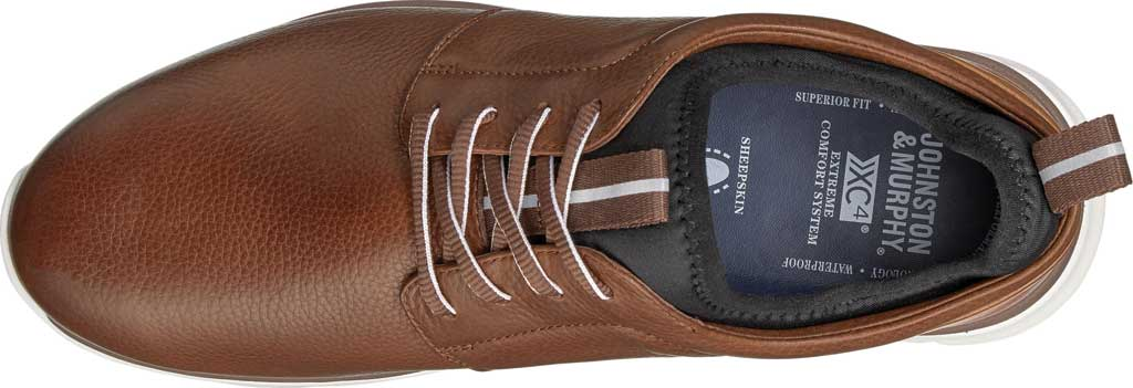 Men's Johnston & Murphy Prentiss Plain Toe Sneaker, Mahogany Waterproof Leather, large, image 3