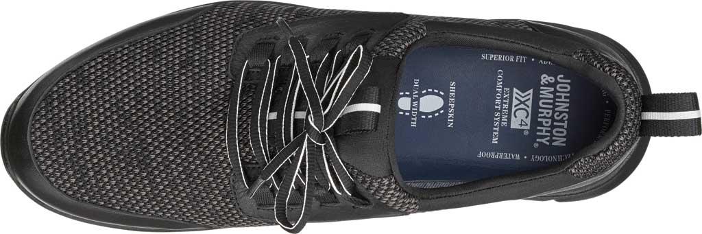 Men's Johnston & Murphy Prentiss Moc Toe Sneaker, Black Waterproof Full Grain Leather/Knit, large, image 2