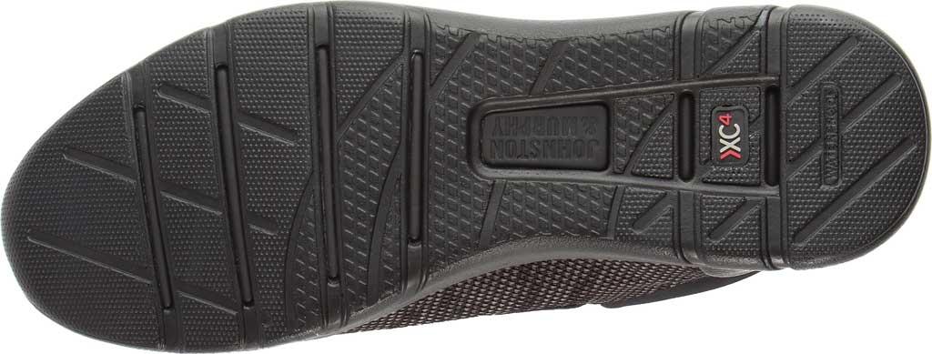 Men's Johnston & Murphy Prentiss Moc Toe Sneaker, Black Waterproof Full Grain Leather/Knit, large, image 3
