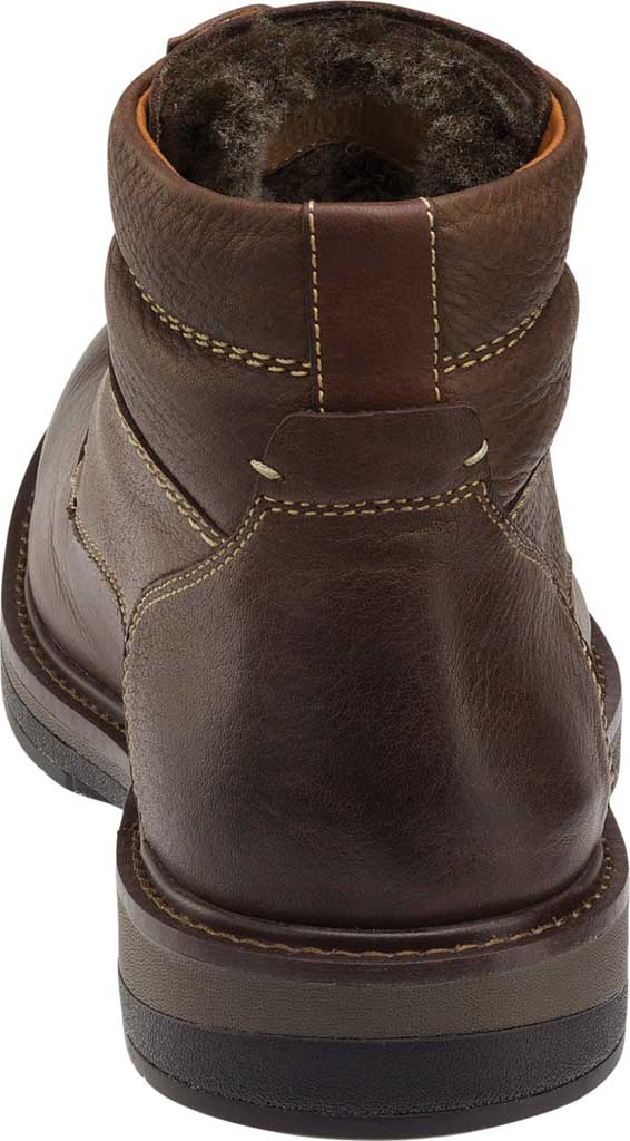Men's Johnston & Murphy Rutledge Shearling Boot, Brown Oiled Waterproof Tumbled Full Grain Leather, large, image 2