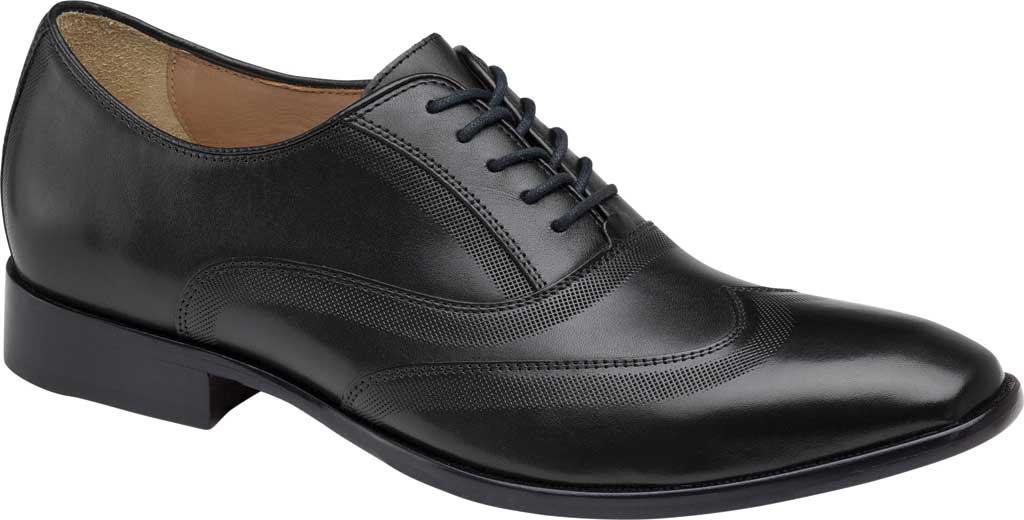 Men's Johnston & Murphy McClain Wingtip, Black Full Grain Leather, large, image 1