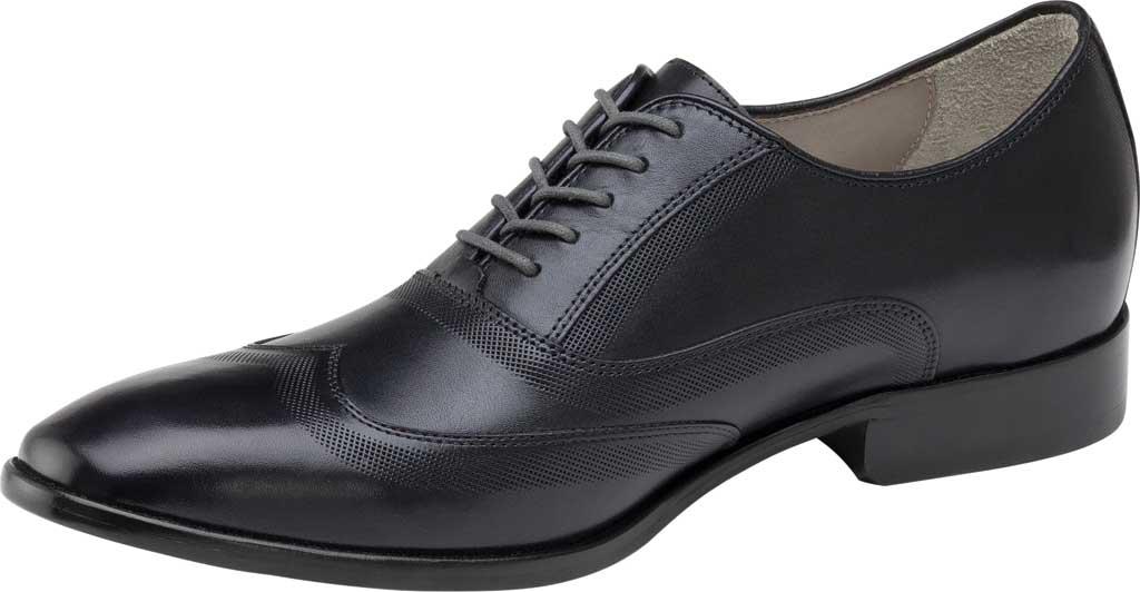 Men's Johnston & Murphy McClain Wingtip, Black Full Grain Leather, large, image 2
