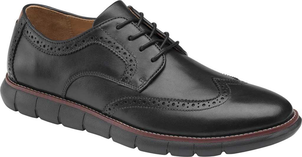 Men's Johnston & Murphy Holden Wingtip, Black/Black Full Grain Leather, large, image 1