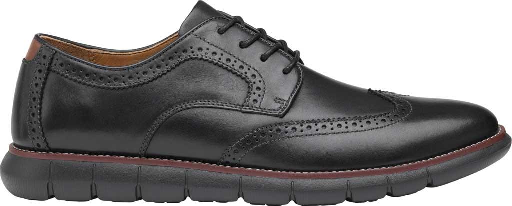 Men's Johnston & Murphy Holden Wingtip, Black/Black Full Grain Leather, large, image 2