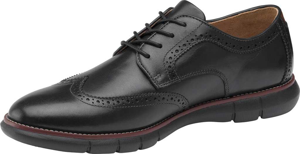Men's Johnston & Murphy Holden Wingtip, Black/Black Full Grain Leather, large, image 3