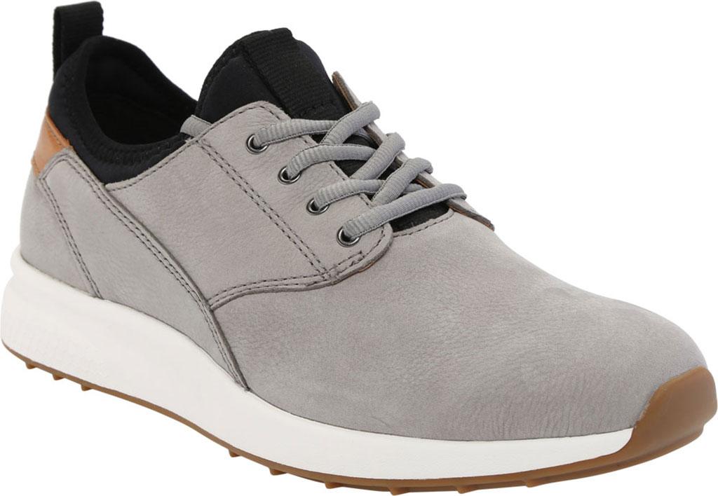 Men's Johnston & Murphy Keating Plain Toe Sneaker, Grey Tumbled Nubuck, large, image 1