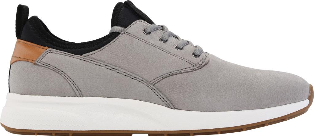 Men's Johnston & Murphy Keating Plain Toe Sneaker, Grey Tumbled Nubuck, large, image 2
