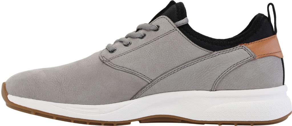 Men's Johnston & Murphy Keating Plain Toe Sneaker, Grey Tumbled Nubuck, large, image 3