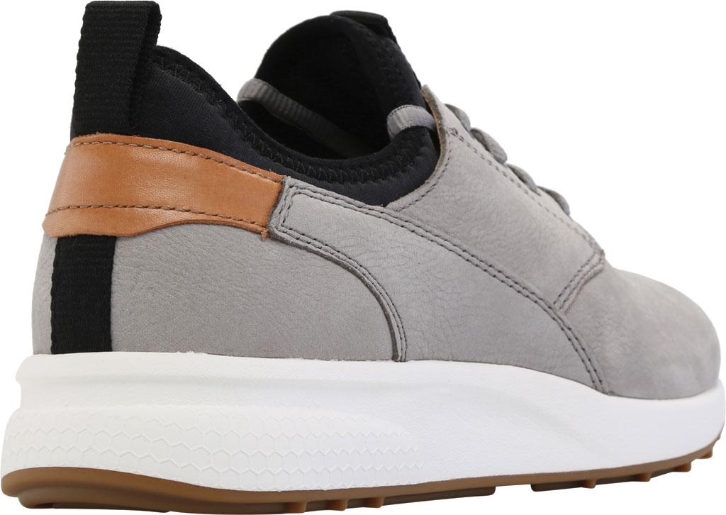 Men's Johnston & Murphy Keating Plain Toe Sneaker, Grey Tumbled Nubuck, large, image 4
