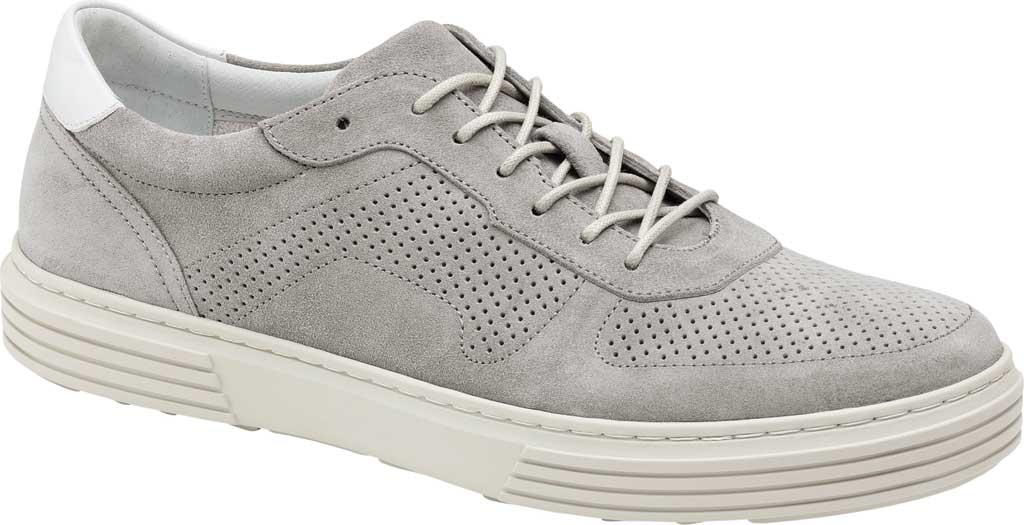 Men's Johnston & Murphy Pascal Perf U-Throat Sneaker, Grey Italian Suede, large, image 1