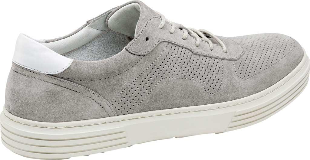 Men's Johnston & Murphy Pascal Perf U-Throat Sneaker, Grey Italian Suede, large, image 2