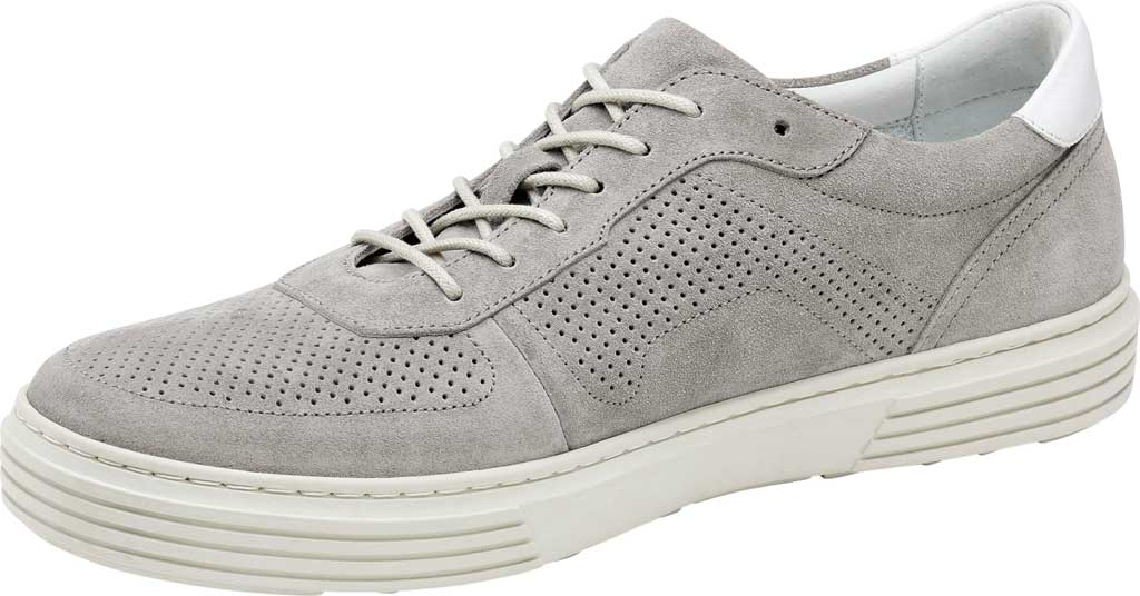 Men's Johnston & Murphy Pascal Perf U-Throat Sneaker, Grey Italian Suede, large, image 3