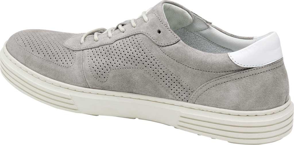 Men's Johnston & Murphy Pascal Perf U-Throat Sneaker, Grey Italian Suede, large, image 4