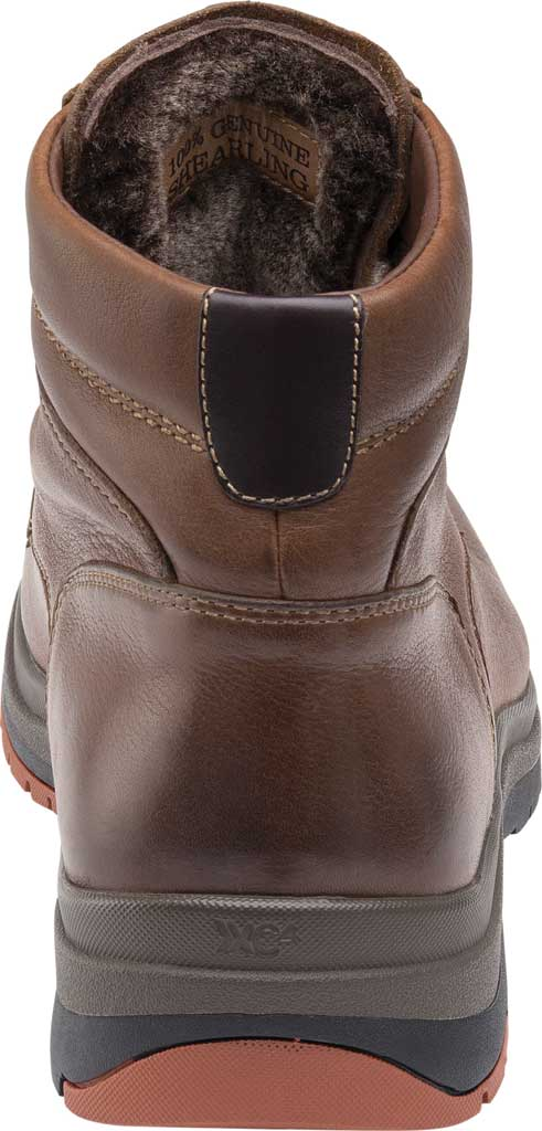 Men's Johnston & Murphy Cahill Shearling Waterproof Boot, Mahogany Waterproof Full Grain Leather, large, image 4