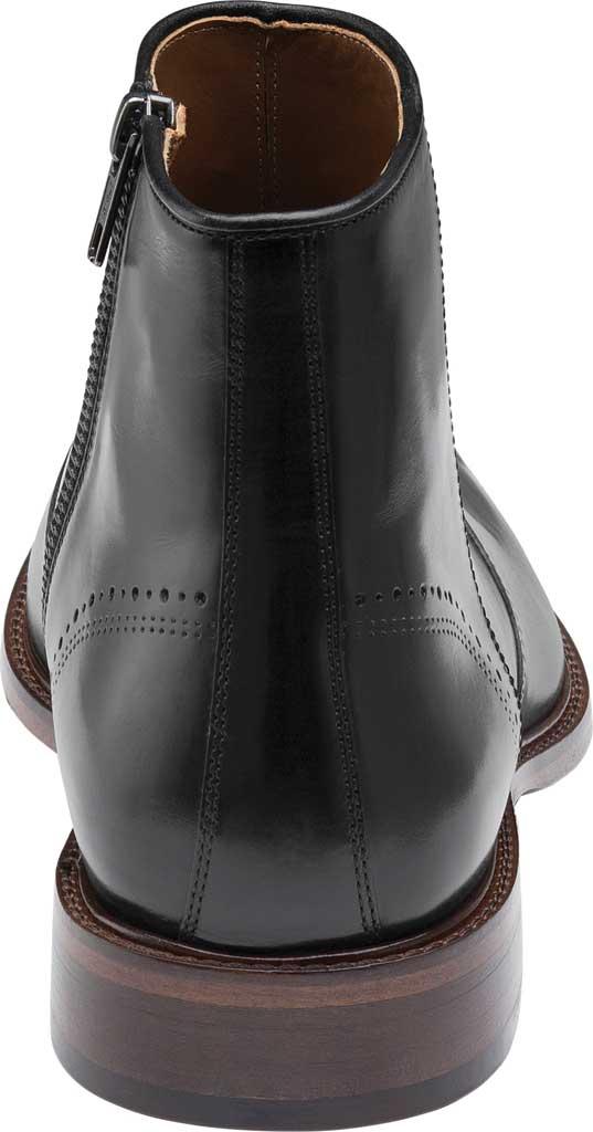 Men's Johnston & Murphy Sayer Plain Toe Zip Ankle Boot, Black Italian Calfskin, large, image 4