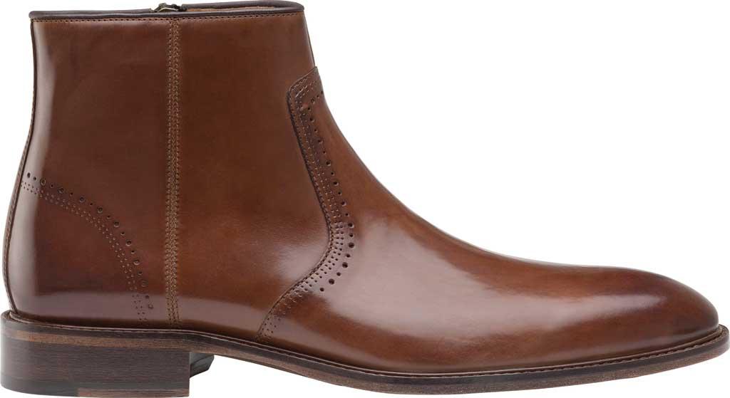 Men's Johnston & Murphy Sayer Plain Toe Zip Ankle Boot, Tan Italian Calfskin, large, image 2
