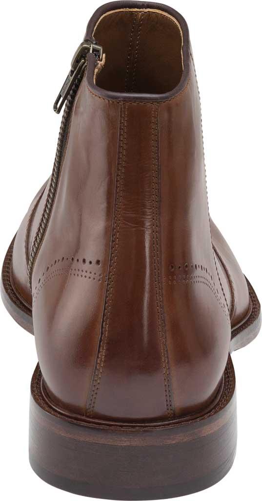 Men's Johnston & Murphy Sayer Plain Toe Zip Ankle Boot, Tan Italian Calfskin, large, image 4