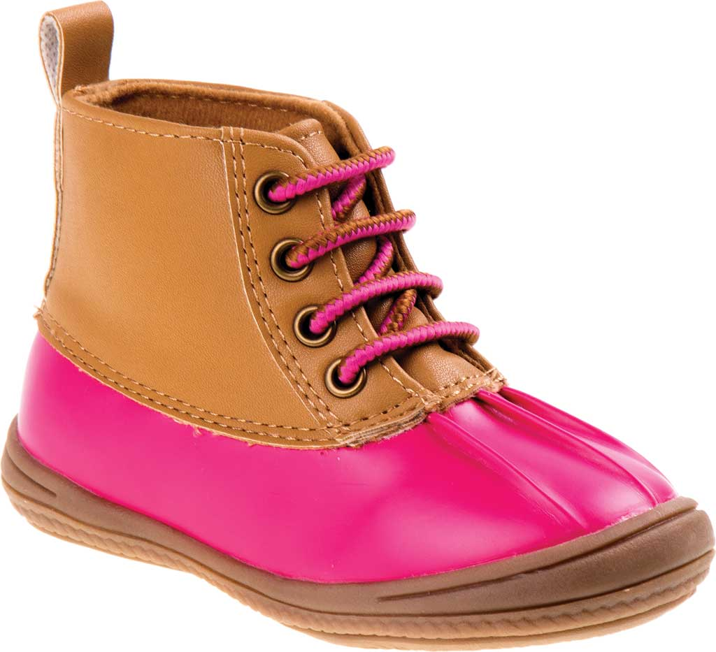 Infant Smart Step ST61078 Duck Boot, Fuchsia Patent/Tan, large, image 1