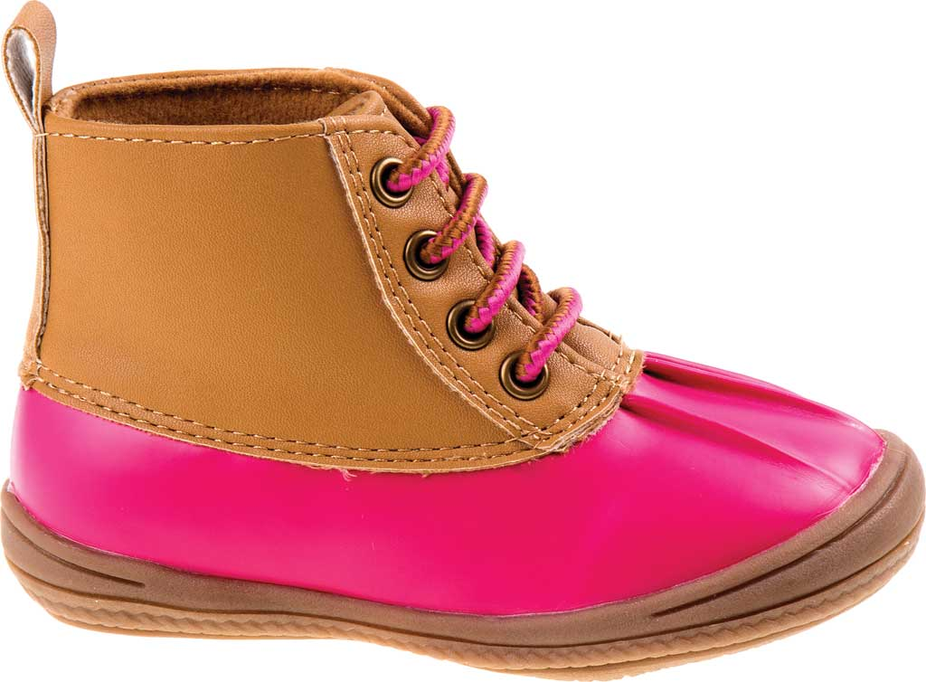 Infant Smart Step ST61078 Duck Boot, Fuchsia Patent/Tan, large, image 2