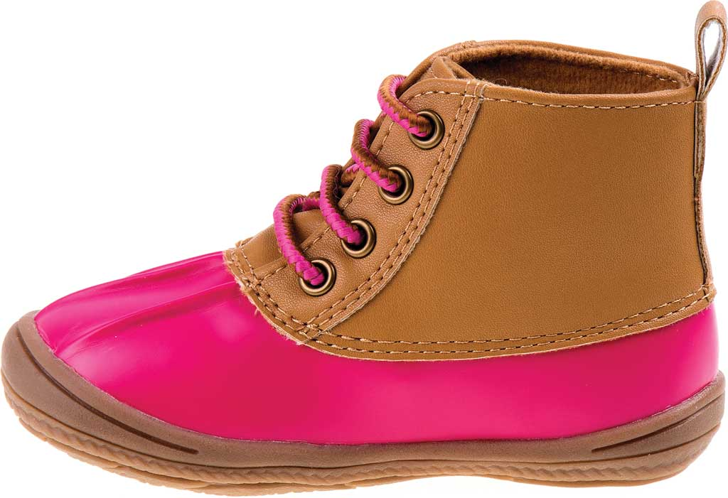 Infant Smart Step ST61078 Duck Boot, Fuchsia Patent/Tan, large, image 3