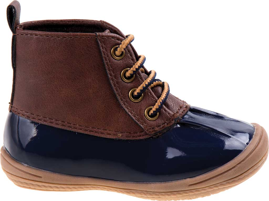 Infant Smart Step ST61078 Duck Boot, Navy Patent/Brown, large, image 2