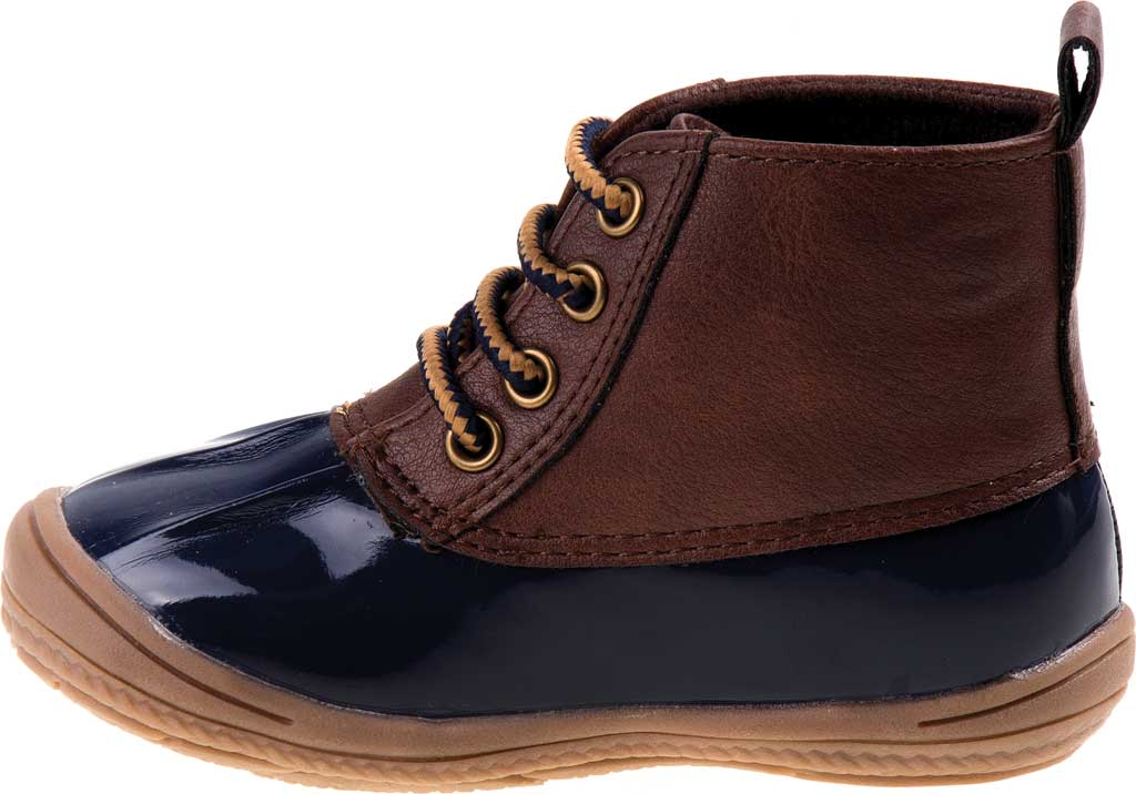 Infant Smart Step ST61078 Duck Boot, Navy Patent/Brown, large, image 3