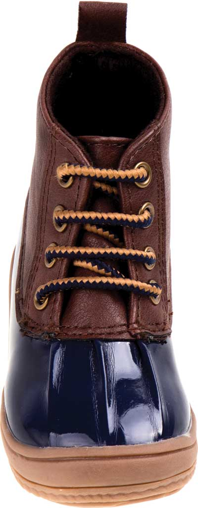 Infant Smart Step ST61078 Duck Boot, Navy Patent/Brown, large, image 4