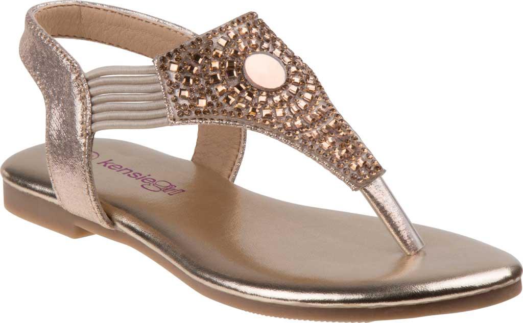 Girls' Kensie Girl KG81179M Thong Sandal, Gold Shine Synthetic, large, image 1