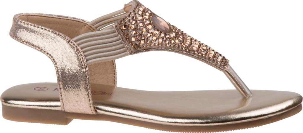 Girls' Kensie Girl KG81179M Thong Sandal, Gold Shine Synthetic, large, image 2