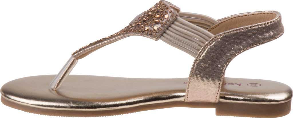 Girls' Kensie Girl KG81179M Thong Sandal, Gold Shine Synthetic, large, image 3