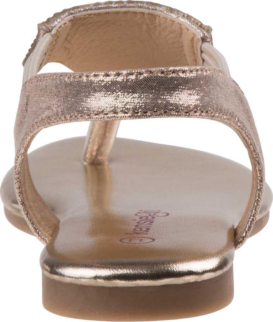 Girls' Kensie Girl KG81179M Thong Sandal, Gold Shine Synthetic, large, image 4