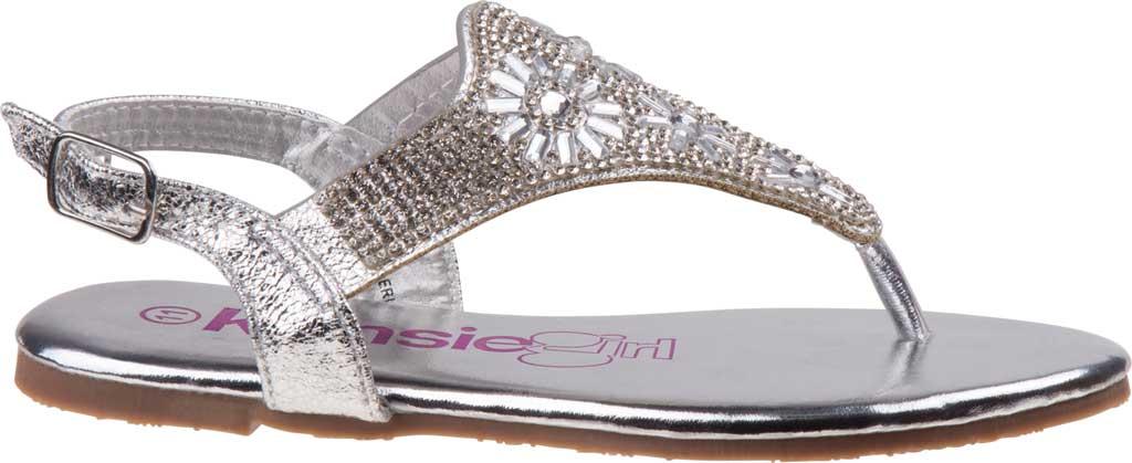 Girls' Kensie Girl KG81583M Thong Sandal, Silver Synthetic, large, image 2