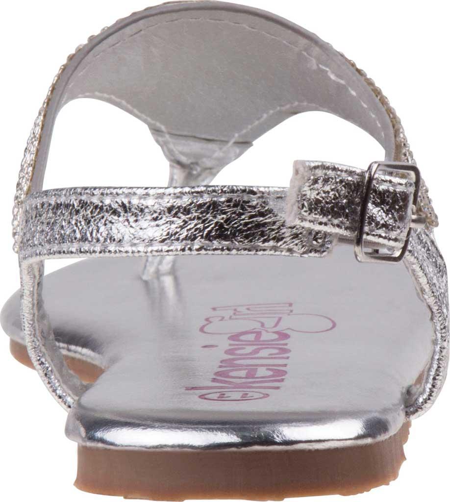 Girls' Kensie Girl KG81583M Thong Sandal, Silver Synthetic, large, image 4